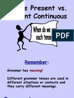 Simple Present vs Present Continuous