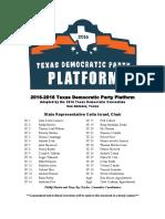 Texas Democratic Party 2016 Platform