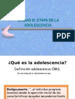 UNIDAD III Adolescencia