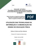 Tecnologias Da Informacao No Ensino de Educacao Fisica