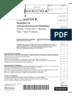 June 2014 (R) QP - S1 Edexcel