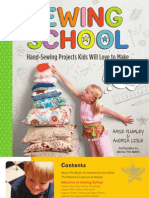 Sewing School — Book Layout and Design (sample pages)