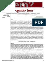 Cognitio Juris Reconocimiento Del DH a La Paz