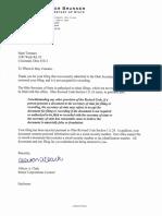 [Jennifer Brunner] Denial Letter & Copy of Notice of Default Affidavit of Notice & Commercial Lien