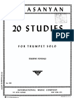 290082361 Balasanyan 20 Studies for Trumpet Solo