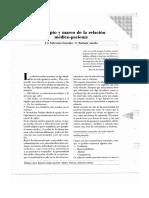 Concepto y Marco De La Relacion Medico paciente