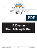 a day on the hallelujah diet
