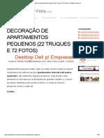 Decoração de Apartamentos Pequenos (22 Truques E 72 Fotos) _ CasaBemFeita