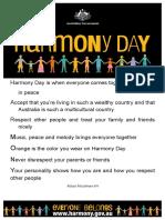 harmony day 6h