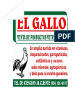 Calendario El Gallo