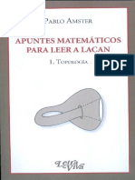 Apuntes matemáticos para leer a Lacan 1. Topología [Pablo Amster]