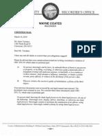 [Wayne Coates] Letter From Wayne Coates 3-16-2010