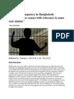Juvenile Delinquency in Bangladesh