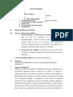 Cuestionario de Salamanca - Informe