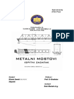 Metalni mostovi - pocetna strana za ispitni zadatak