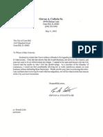 Giovan A. Cullotta's Letter