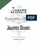 Brahms Violin Sonata No.1 Op.78 Fe SBB Bw