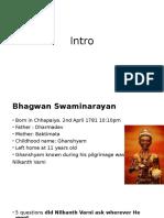 Intro to Swaminarayan
