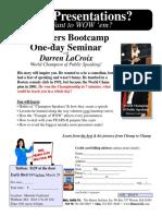 Speaker Bootcamp