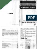 Manual de Usuario - CASIO Fx-3600P