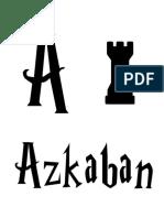 Harry Potter Alphabet A to Z