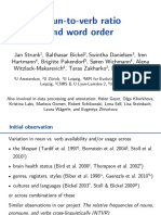 Noun-To-Verb Ratio and Word Order