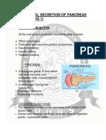Hormonal Secretion of Pancreas