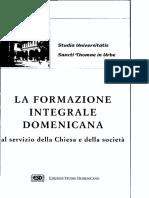 La Formazione Integrale Domenicana Al Servizio Al servizio della Chiesa e della società