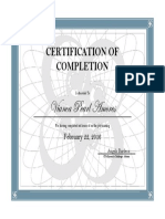 Cert. of completion