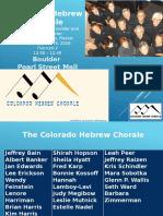 Boulder Jewish Festival 2016