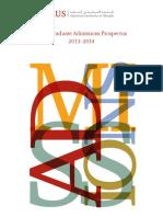 AUS Prospectus Undergraduate Admissions Prospectu 2013 2014