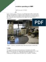 Operating an NMR Spectrometer