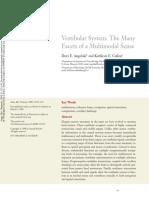 Angelaki, Cullen 2008 Vestibular System the Many Facets