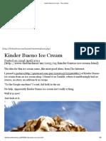 Kinder Bueno Ice Cream - The Londoner