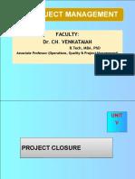 Unit-V-project Audit and Closure