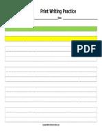 WorksheetWorks Print Writing Practice 1