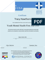 youth mhfa certificate th