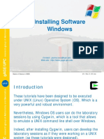 Software Installation Windows MASTER