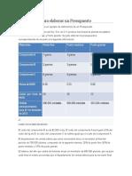 Metodología Para Elaborar Un Presupuesto WIKIPEDIA PRACTICA