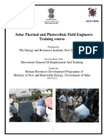 Solar Thermal and Photovoltaic Field Engineer Training Course
