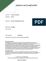 Piccillo, Giuseppe -Sul valore del grafema O per Ă