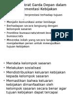 Peran Birokrat Garda Depan dalam Implementasi Kebijakan.pptx