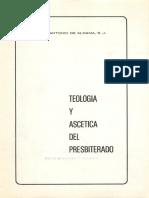 J.a. de Aldama - Teología y Ascética Del Presbiterado