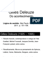Seminario Deleuze - Acontecimento