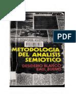 Blanco Desiderio Y Bueno Raul - Metodologia Del Analisis Semiotico