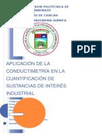 Aplicación de La Conductimetría en La Cuantificación de Sustancias de Interés Industrial