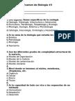 Examen de Biología 3a