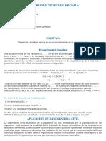aplicacion de ecuaciones lineales