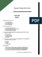 API 570 Exam Samples