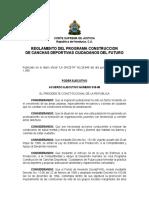 Reglamento Del Programa Constucción de Canchas Deportivas